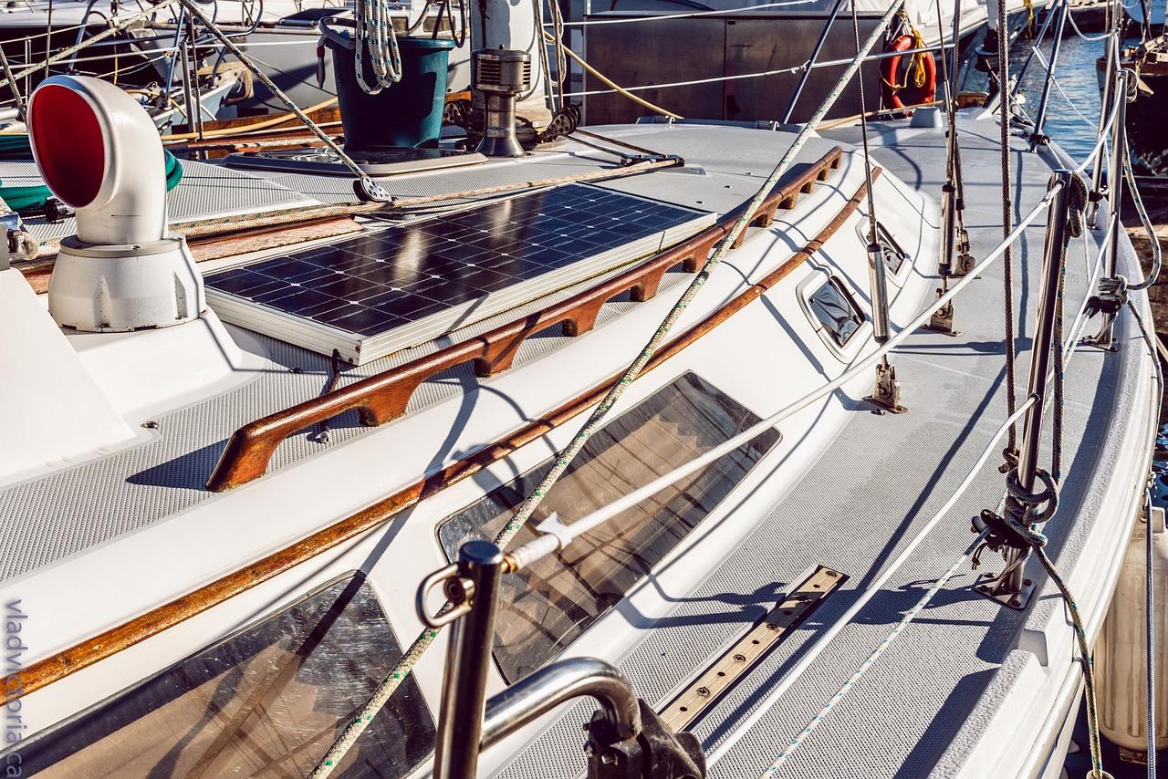 Panel solar para embarcación
